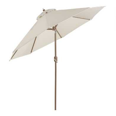 Brown Steel 9 Ft Tilting Patio Umbrella Frame And Pole