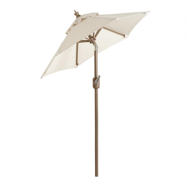 Brown Steel 5 Ft Tilting Outdoor Umbrella Frame And Pole