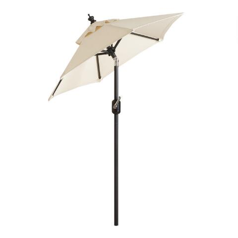 Black Steel 5 Ft Tilting Outdoor Umbrella Frame And Pole