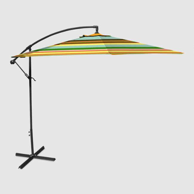 Multicolor Havana Stripe Cantilever Outdoor Umbrella