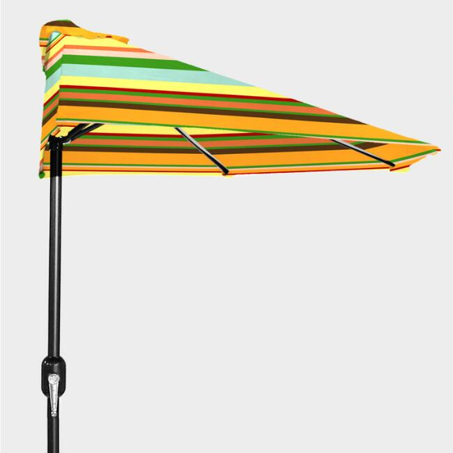 Havana Stripe Outdoor Half Umbrella