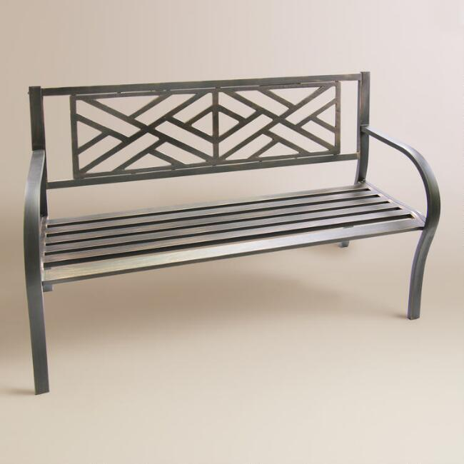 Black Maze Metal Bench