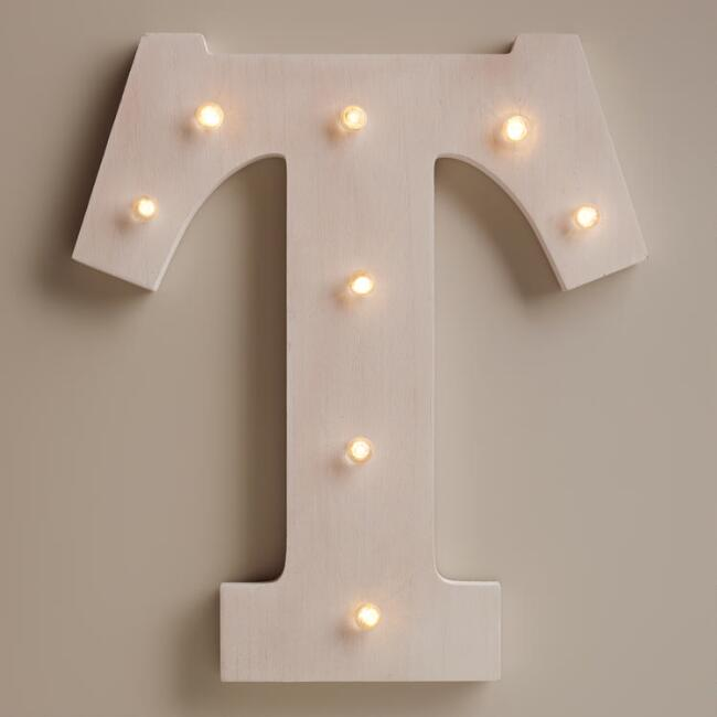 White T LED Battery Operated Marquee Light