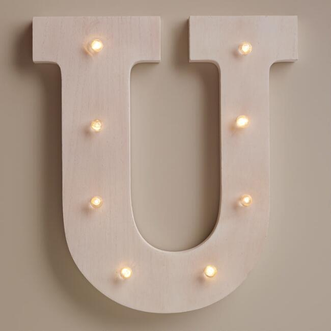 White U LED Battery Operated Marquee Light
