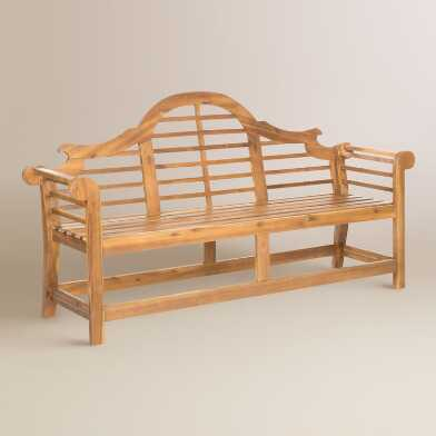 Natural Acacia Wood Nerano Outdoor Bench