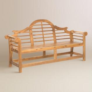 Natural Brown Wood Nerano Outdoor Bench. Outdoor Chairs  Seating and Sectionals   World Market