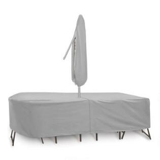 Extra Large Outdoor Table Set Cover With Umbrella Hole