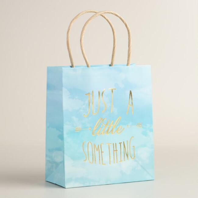 Small Little Something Kraft Gift Bags Set of 2