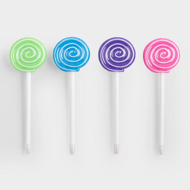 Light Up Lollipop Pens Set of 4