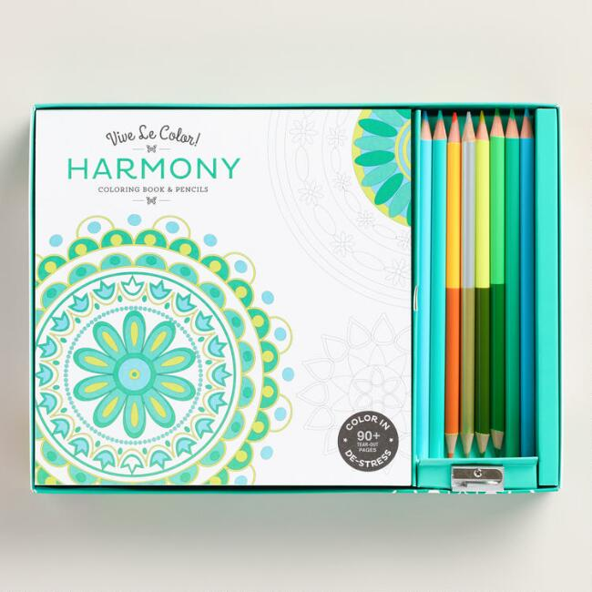 Vive Le Color! Harmony Adult Coloring Book