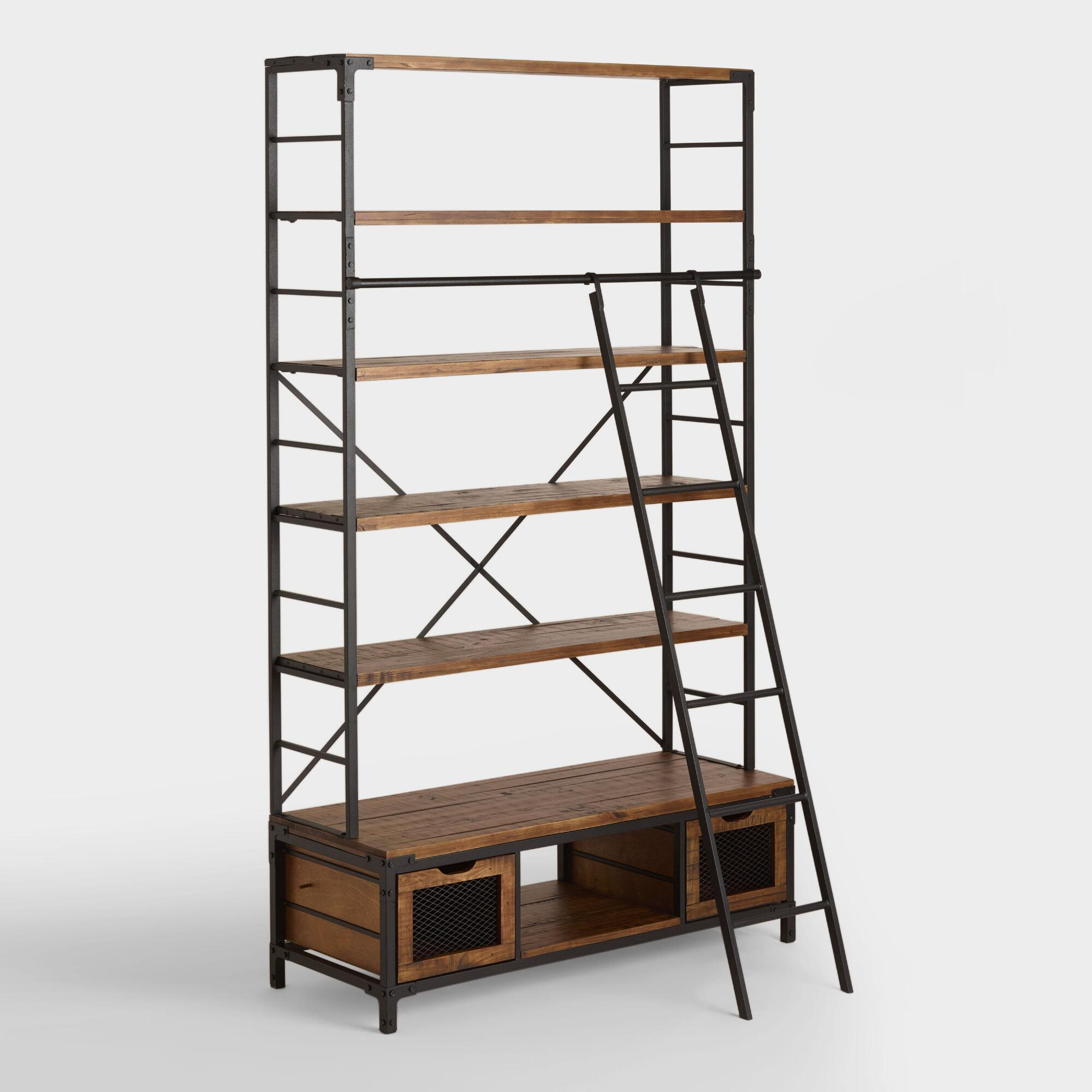 etagere pin metal copper antique products courtlyn bookcase and bookcases wood