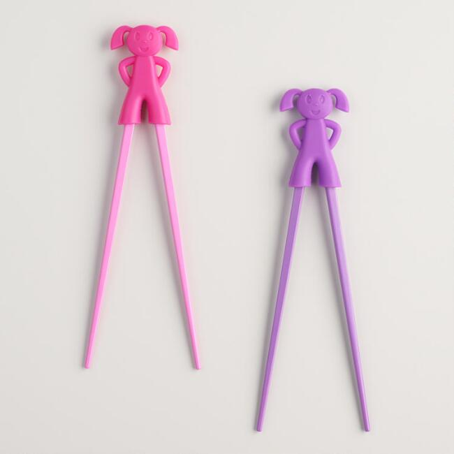 Girl Trainer Chopsticks Set of 2