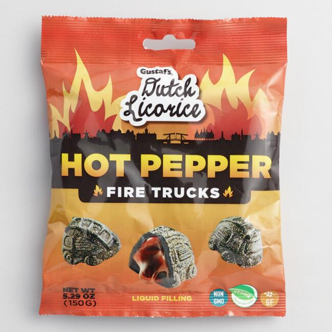 Gustaf's Hot Pepper Licorice Fire Truck Gummies