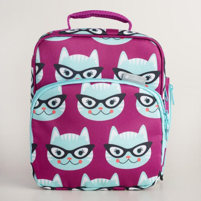 Bentology Kitty Bento Box Lunch Bag Kit