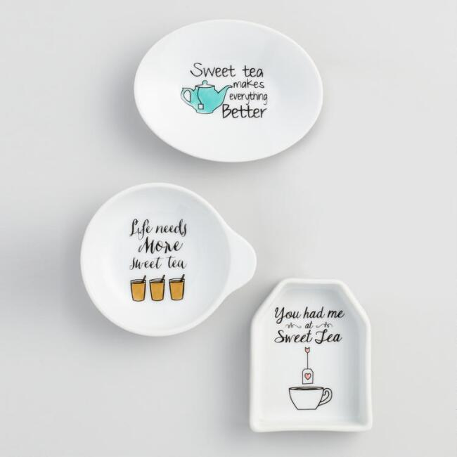 Sweet Tea Porcelain Tea Rests Set of 3