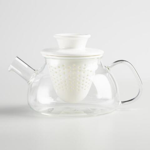 Gl Teapot With White Porcelain Infuser Previous V2 V1