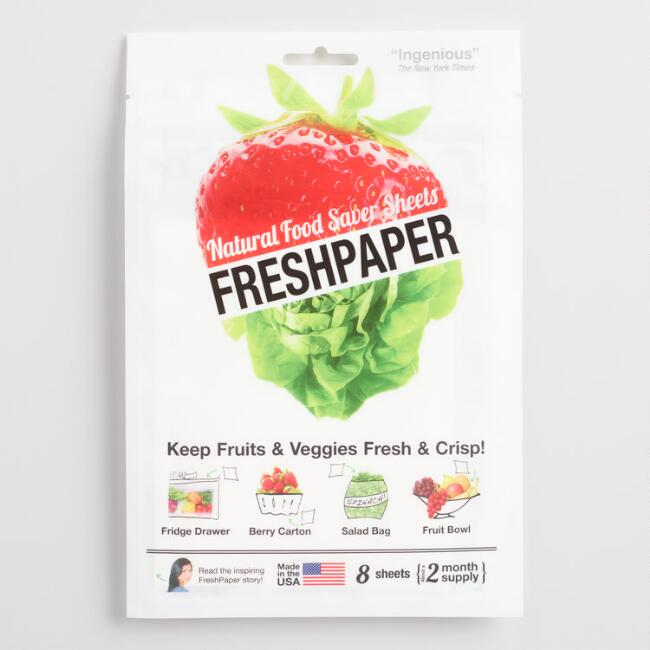 Freshpaper Produce Saver Sheets 8 Count