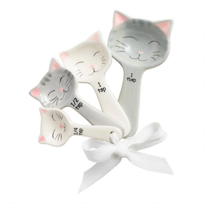 Cat Ceramic Measuring Spoons