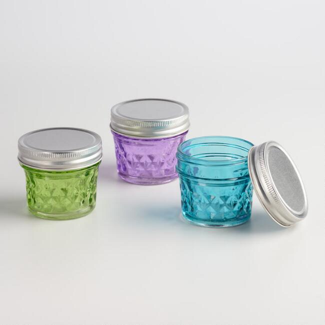 Mini Glass Jars Set of 3