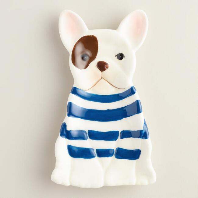 French Bulldog Ceramic Spoon Rest