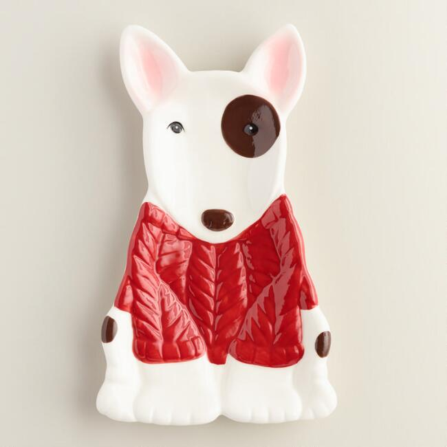 Bull Terrier Ceramic Spoon Rest