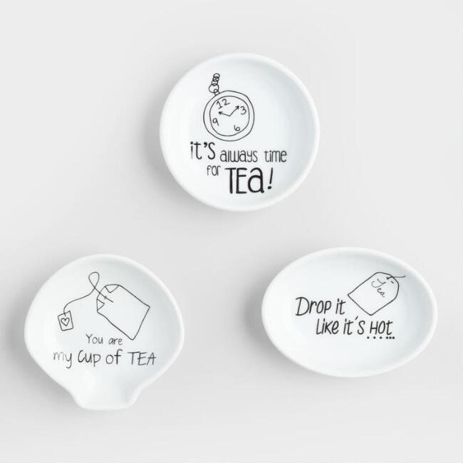 Sentiment Ceramic Tea Rests Set of 3