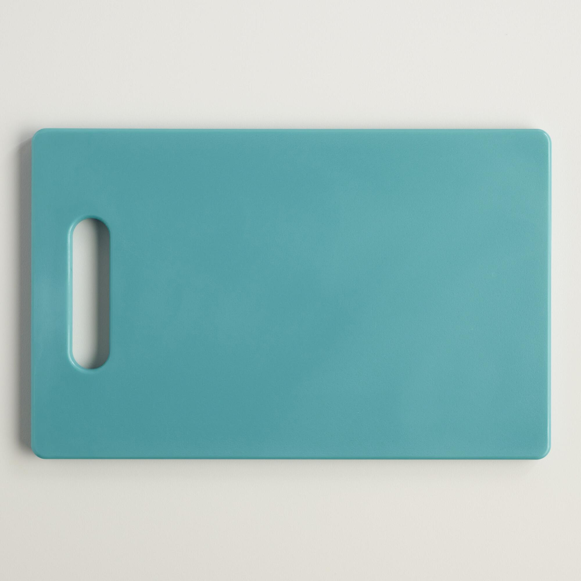 Cost Plus World Market Small Aqua Bar Cutting Board Blue