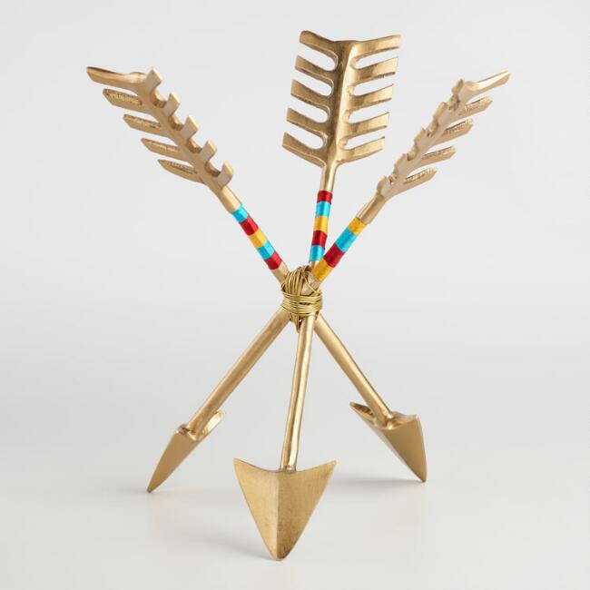 Gold Arrows Jewelry Stand with Thread