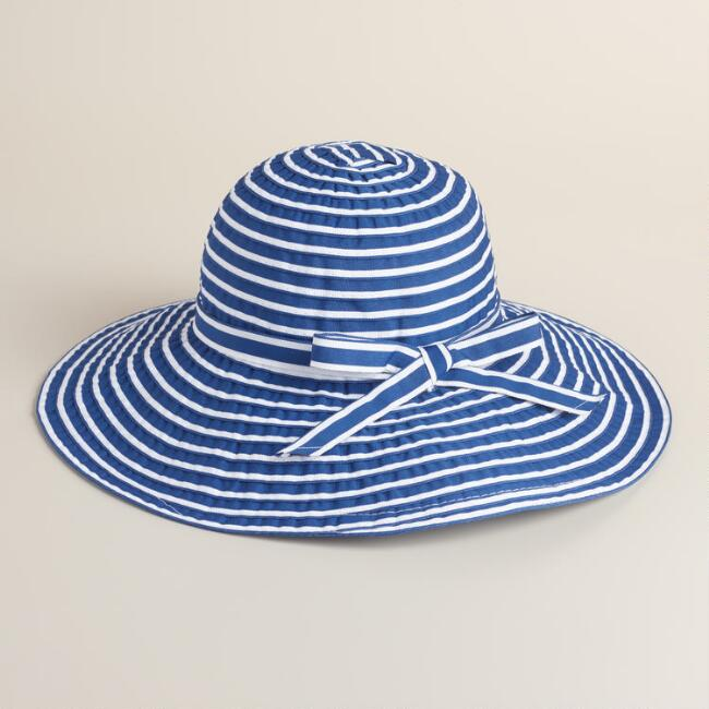 Navy and White Ribbon Sunhat