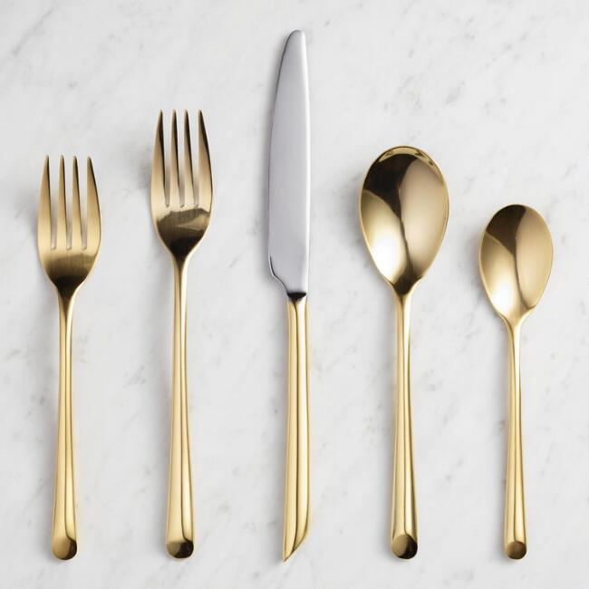 Gold Wave Flatware Collection