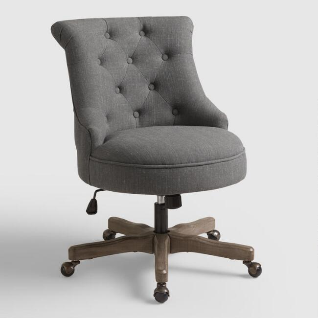 Charcoal Elsie Upholstered Office Chair