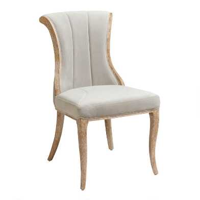 Channel Back Upholstered Dining Chairs Set Of 2