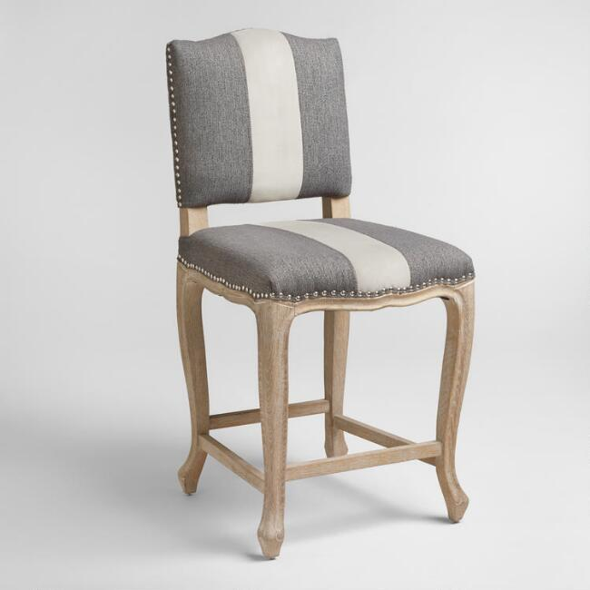 Charcoal Belmond Upholstered Counter Stool