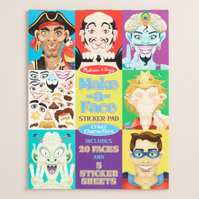 Melissa and Doug Make a Face Sticker Pad