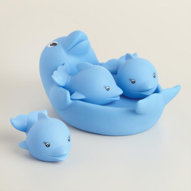 Dolphin Family Bath Toy