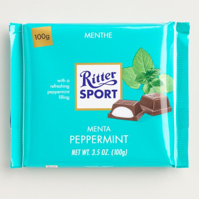 Ritter Sport Peppermint Dark Chocolate Bar