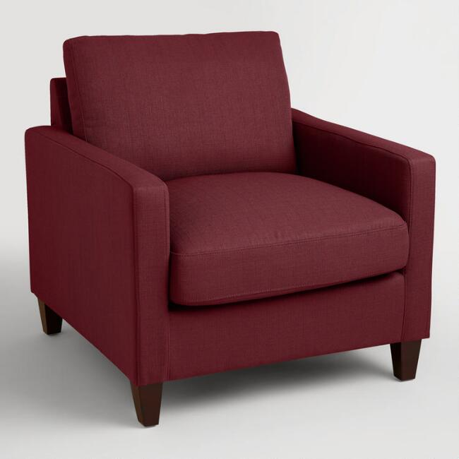 Berry Red Textured Woven Abbott Chair