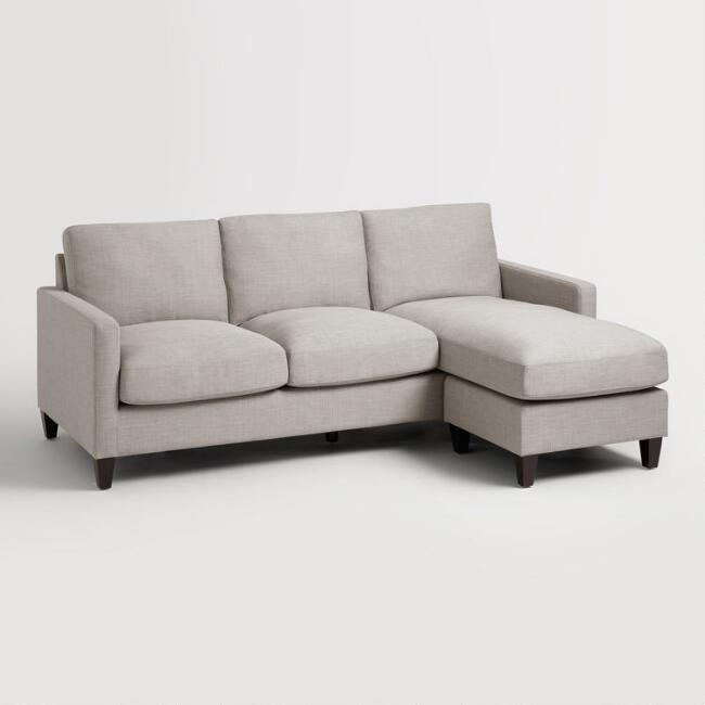 Dove Gray Textured Woven Abbott Sofa