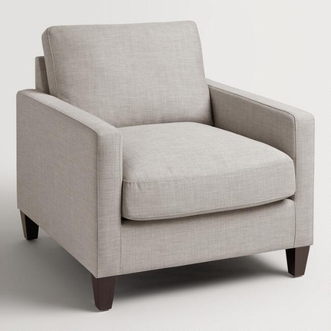 Dove Gray Textured Woven Abbott Chair