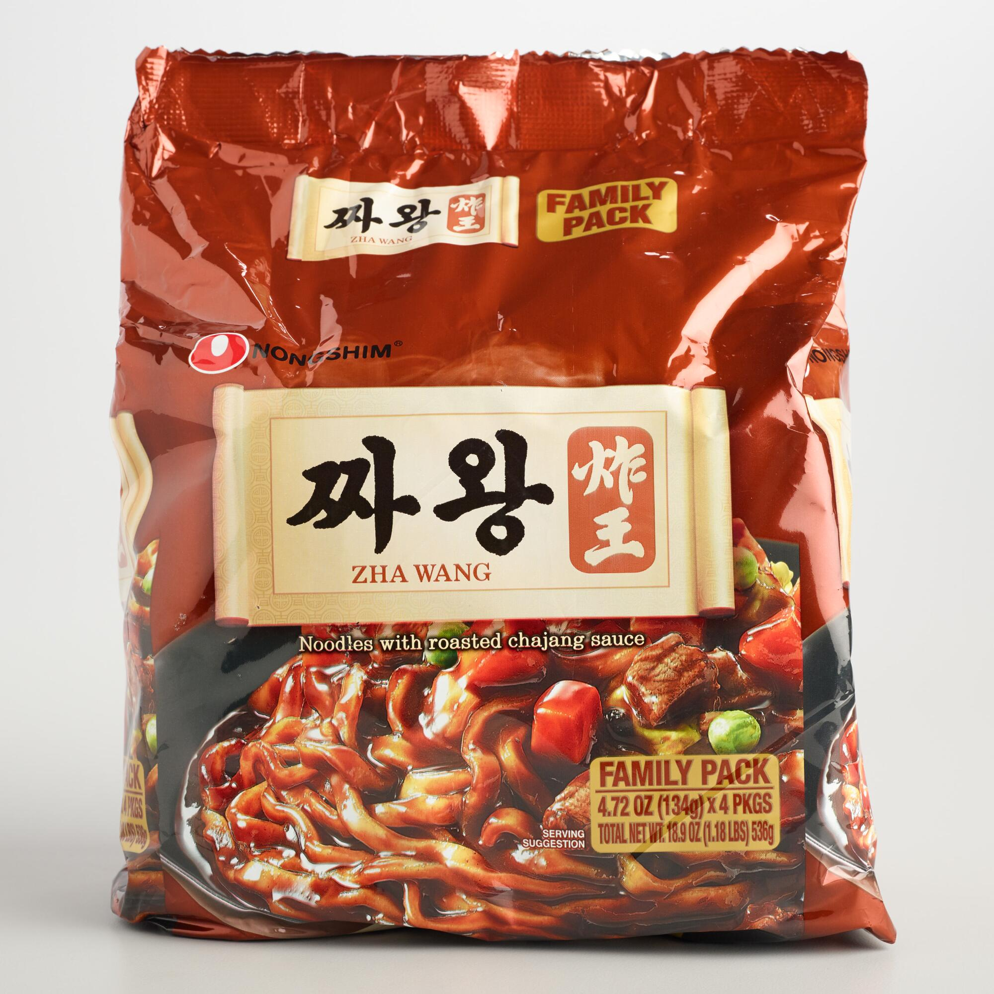 Nonshim Zha Wang Noodles 4 Pack by World Market