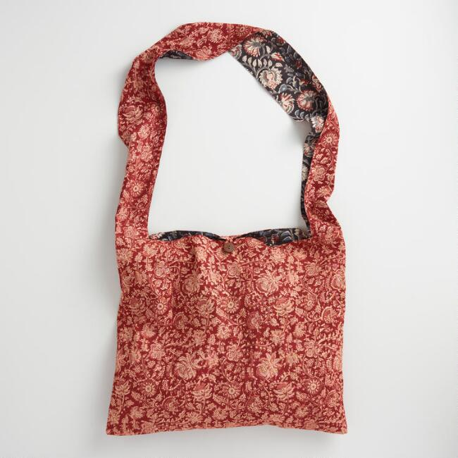 Reversible Kalamkari Hobo Bag