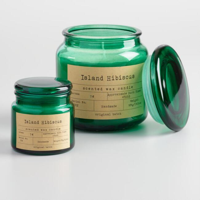 Island Hibiscus Apothecary Filled Jar Candle