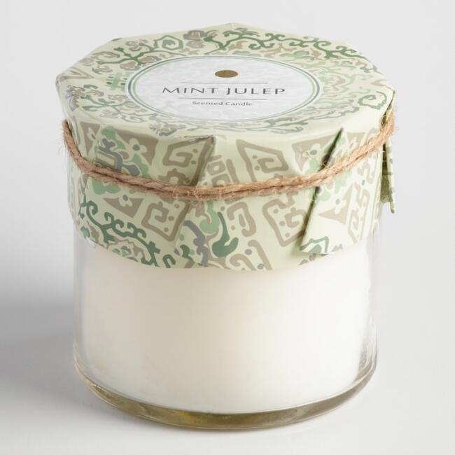 Mint Julep Beijing Tile Jar Candle