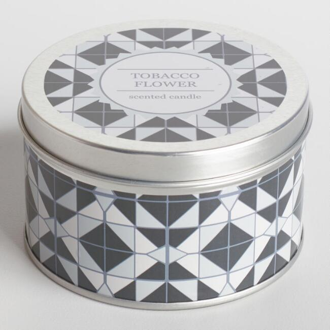 Tobacco Flower Nomad Tile Candle Tin