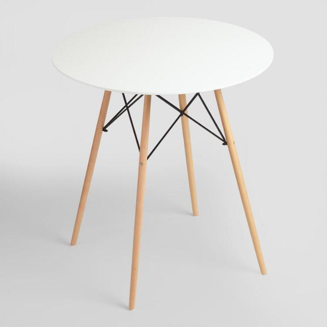 Round White Lacquer Evie Pub Table