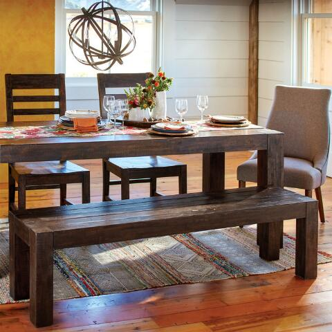 Distressed Wood Donnovan Fixed Dining Table