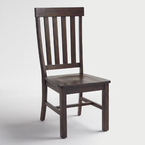 Rustic Brown Wood Brooklynn Dining Chairs Set Of 2