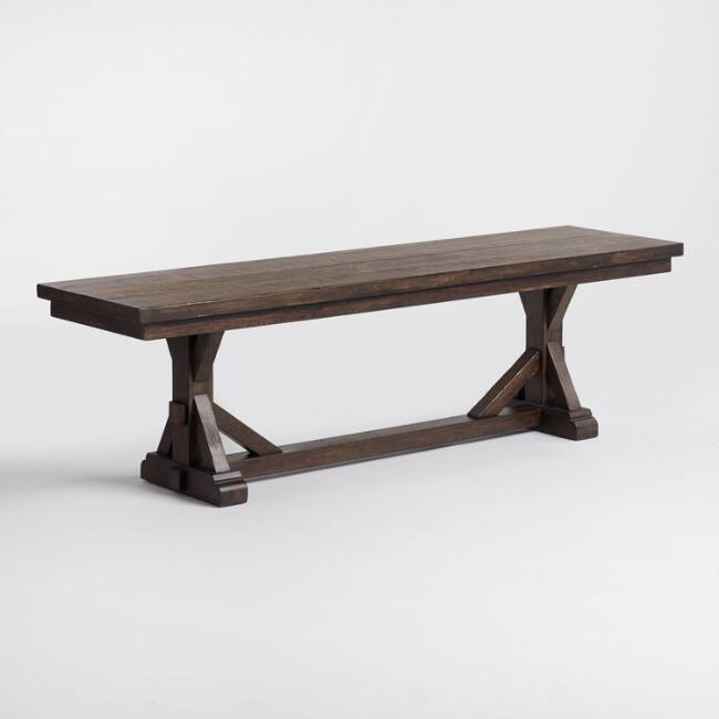Rustic Brown Wood Brooklynn Dining Bench