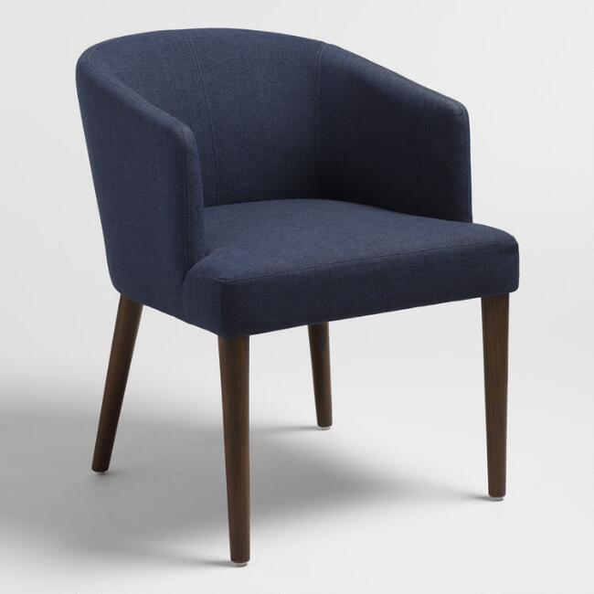 Navy Treyton Bucket Chair
