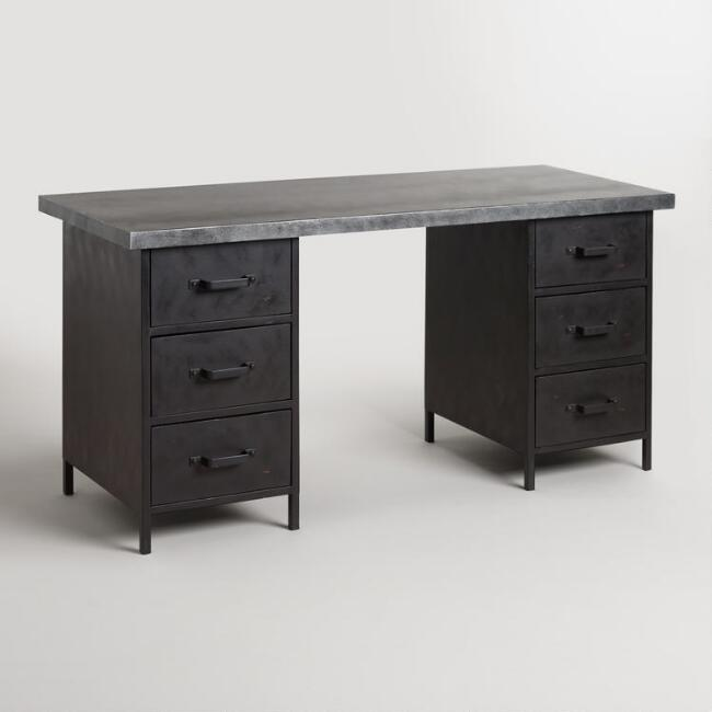 Metal Top and Metal Drawer Colton Mix & Match Desk